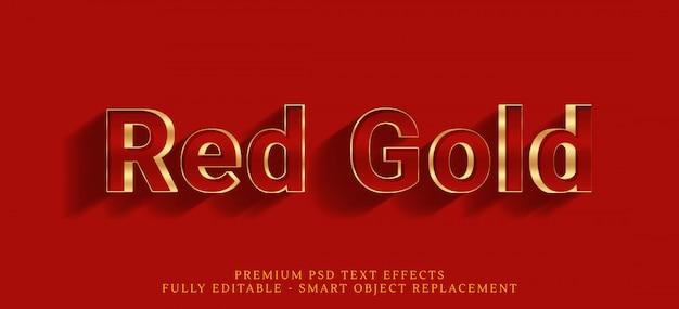 Efecto de estilo de texto de oro rojo
