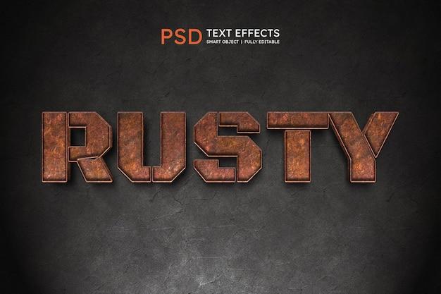 Efecto de estilo de texto oxidado