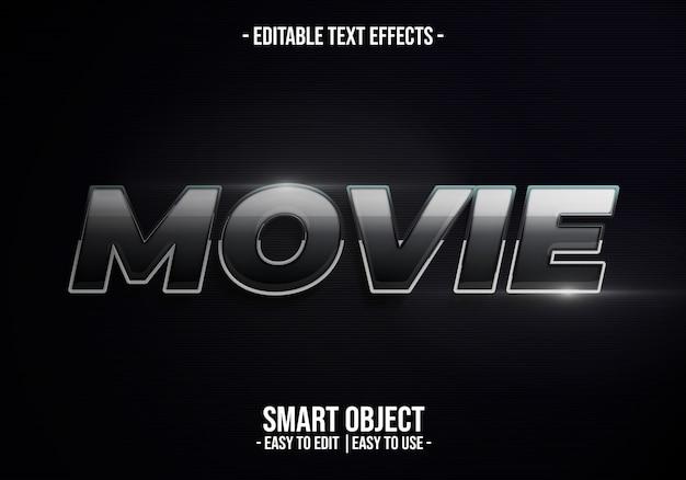 Efecto de estilo de texto de película