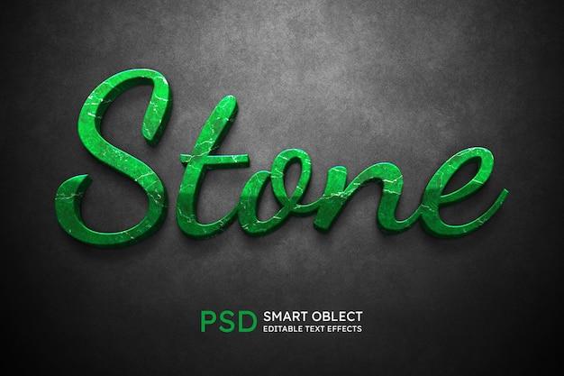 Efecto de estilo de texto de piedra