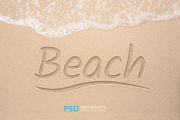 Efecto de estilo de texto de playa