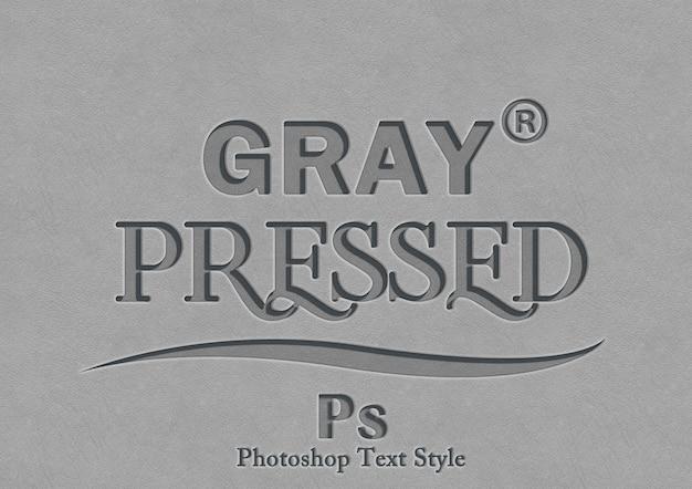 Efecto de estilo de texto de prensa gris