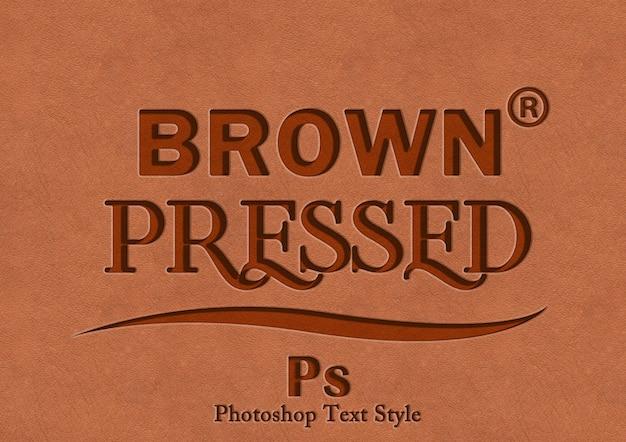 Efecto de estilo de texto de prensa marrón