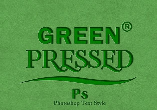 Efecto de estilo de texto de prensa verde