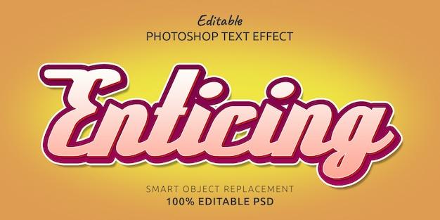 Efecto de estilo de texto psd editable atractivo
