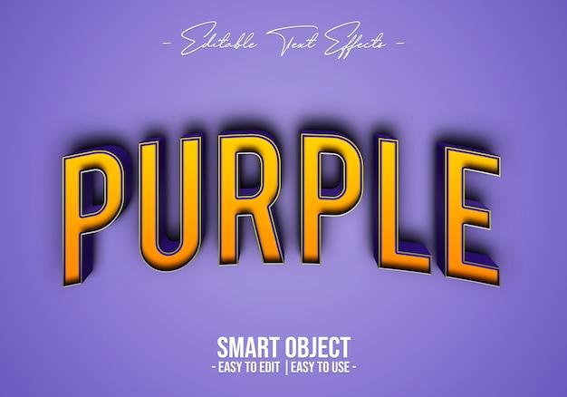 Efecto de estilo de texto púrpura