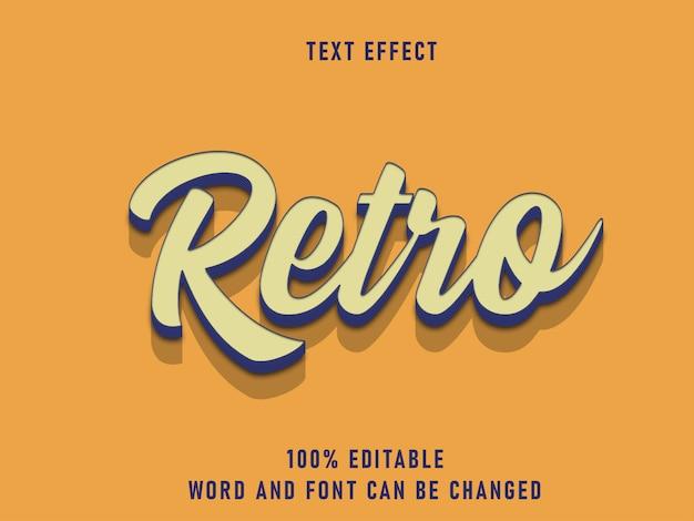 Efecto de estilo de texto retro color de fuente editable sólido mejor estilo vintage