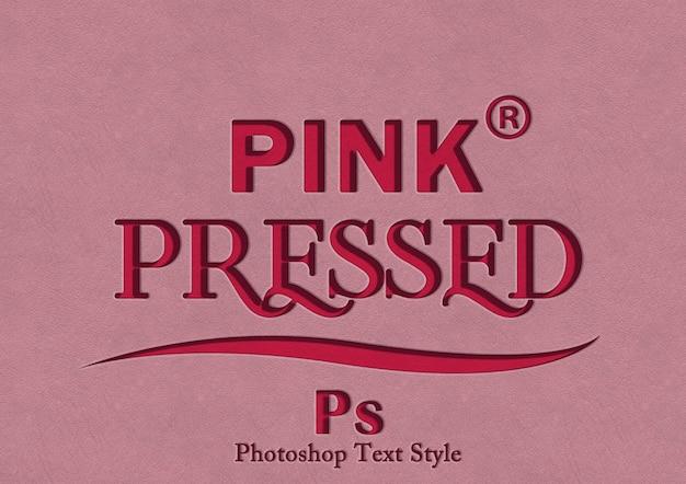 Efecto de estilo de texto rosa 3d