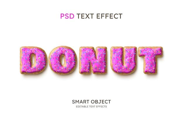 Efecto de estilo de texto de rosquilla