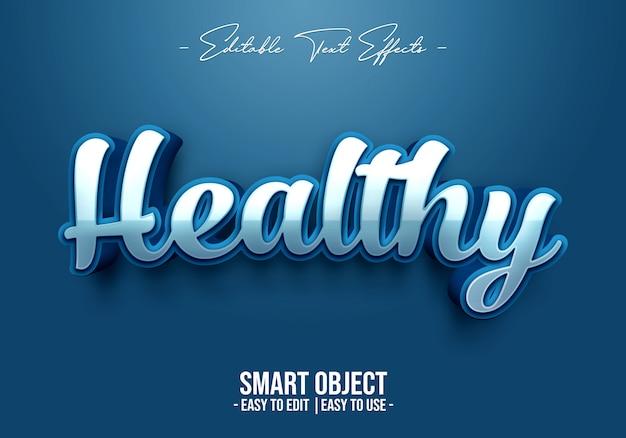 Efecto de estilo de texto saludable