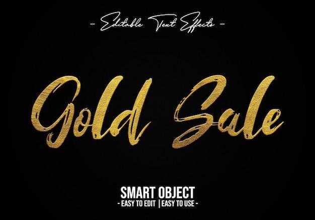 Efecto de estilo de texto de venta de oro
