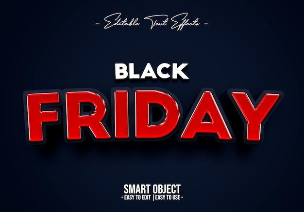 Efecto de estilo de texto de venta de viernes negro