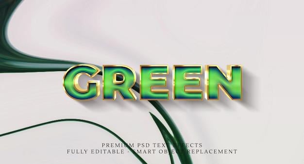 Efecto de estilo de texto verde psd, efectos de texto psd