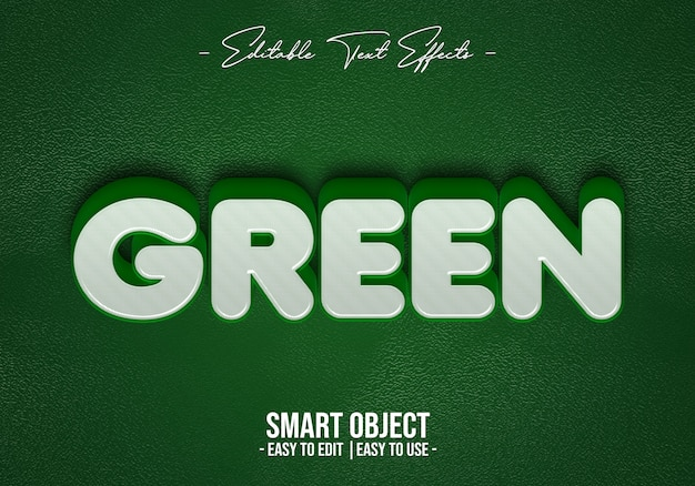 Efecto de estilo de texto verde