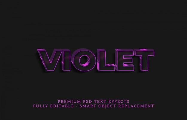 Efecto de estilo de texto violeta claro psd, efectos de texto premium psd