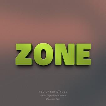 Efecto de estilo de zona verde 3d