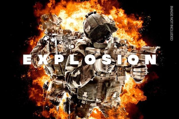 Efecto de foto de explosión de llama