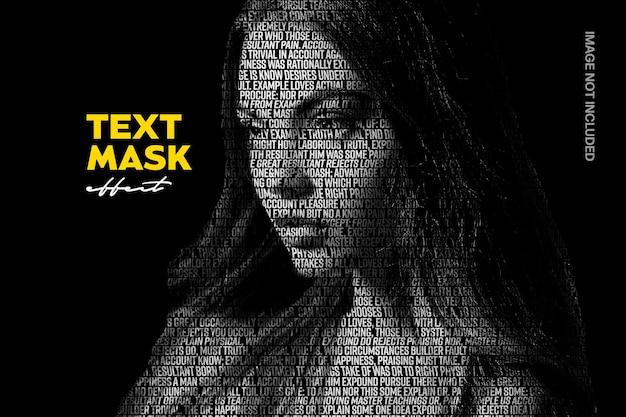 Efecto de foto de máscara de texto