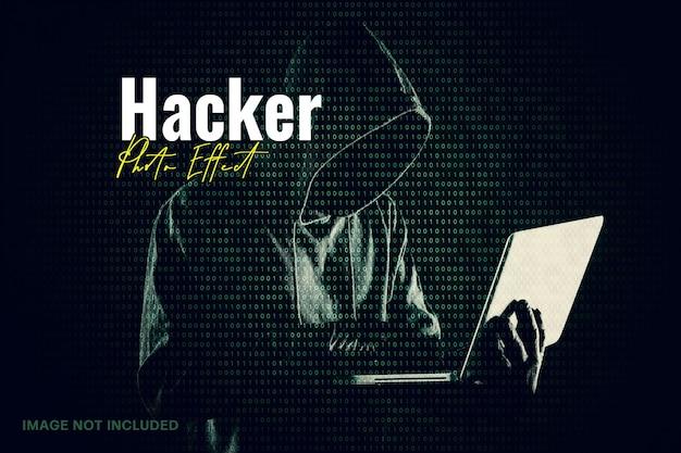 Efecto de foto de matriz de hacker