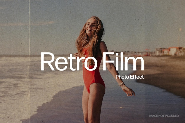 Efecto de foto de película retro PSD Premium