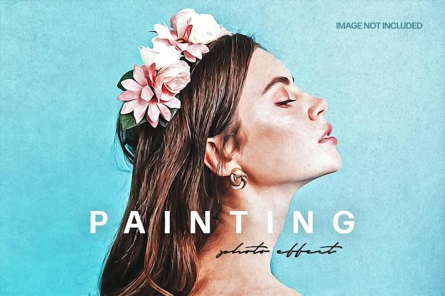 Efecto de foto de pintura acrílica