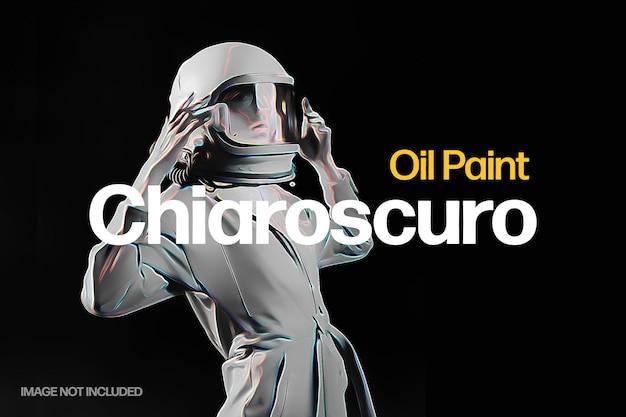 Efecto de foto de pintura al óleo oscura