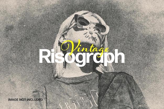 Efecto de foto de risógrafo vintage
