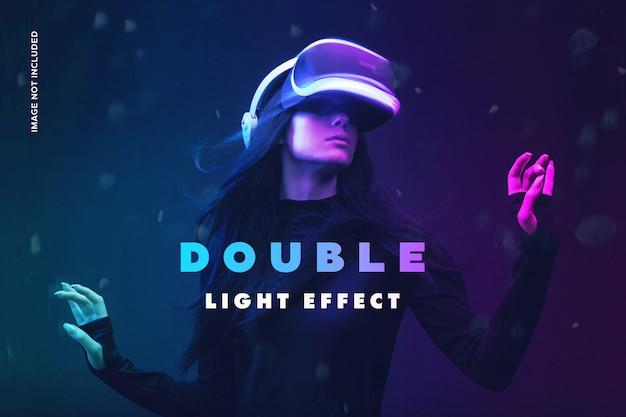 Efecto de fotografía de doble luz