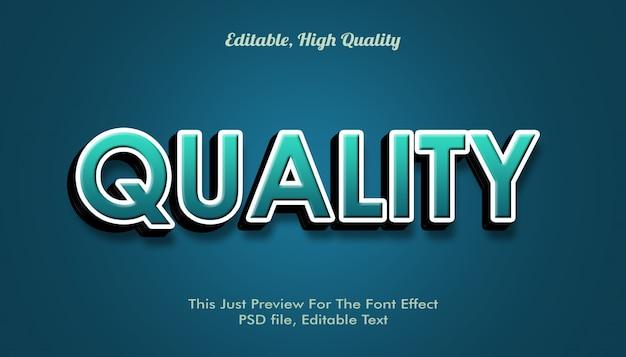 Efecto de fuente de calidad