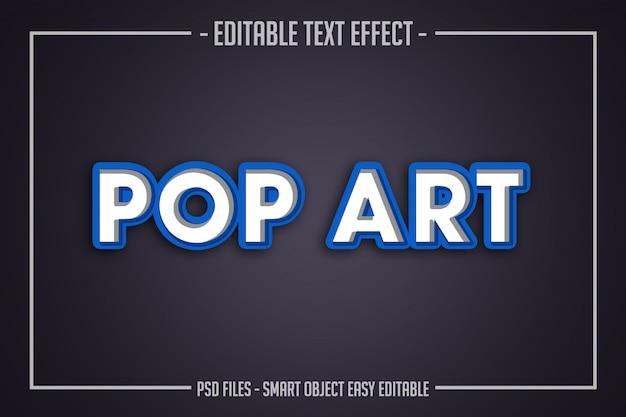 Efecto de fuente editable de estilo de texto pop art moderno