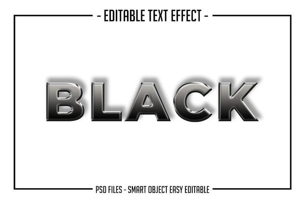 Efecto de fuente de estilo de texto brillante negro negrita moderno