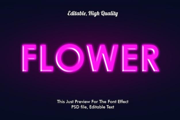 Efecto de fuente de flor