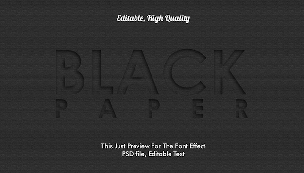 Efecto de fuente de papel negro