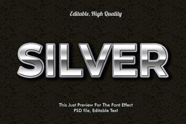 Efecto de fuente de plata