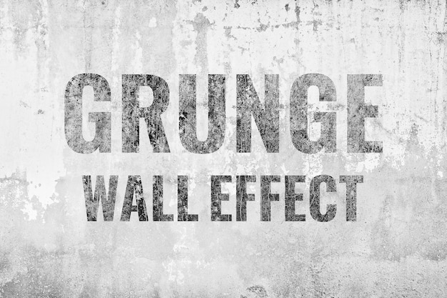 Efecto grunge antiguo muro de hormigón