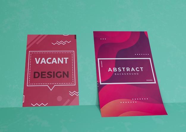 Efecto líquido en el papel de maqueta comercial de la empresa de la marca