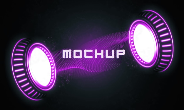 Efecto de logotipo futurista renderizado en 3d