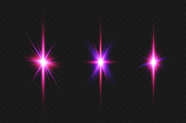 Efecto de luz de choque de fuerzas realistas con destello de lente para navidad