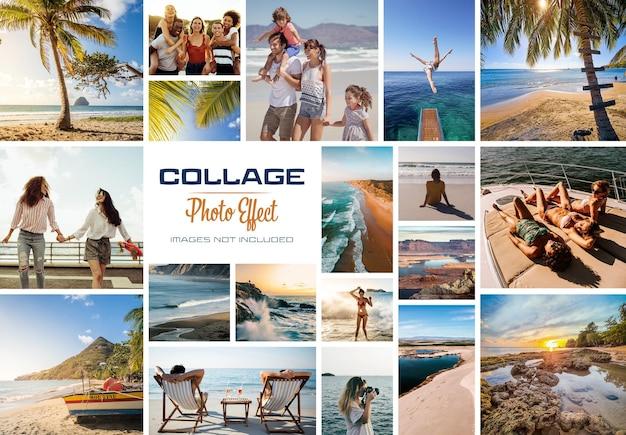 Efecto de marco de collage de fotos