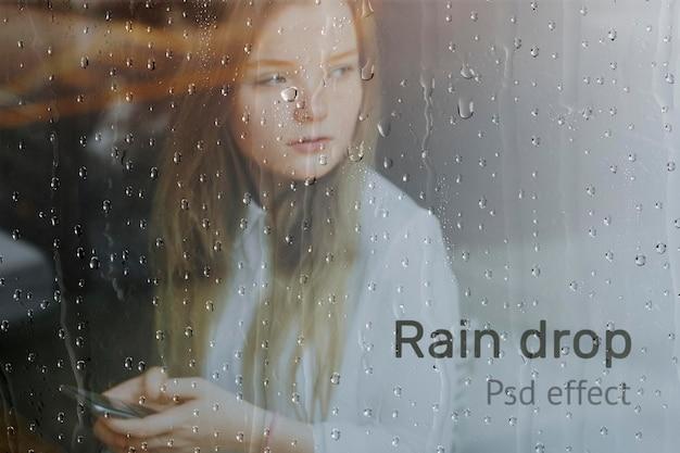 Efecto psd de gota de lluvia, complemento de photoshop