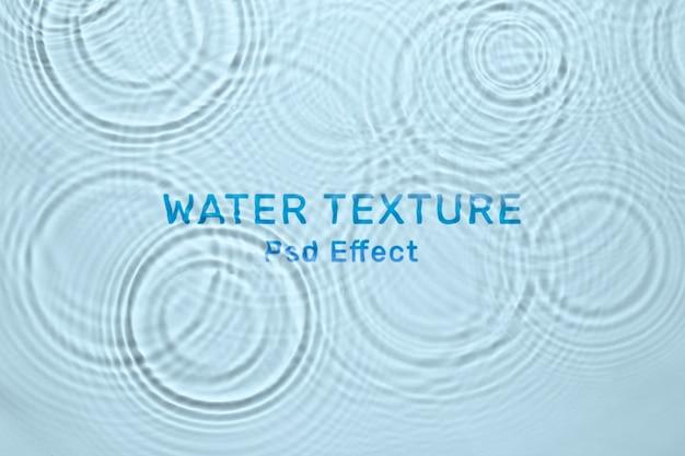 Efecto psd de textura de agua, complemento de photoshop