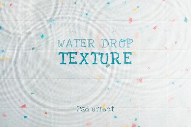Efecto psd de textura de gota de agua, complemento de photoshop