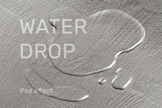 Efecto psd de textura de gota de agua, complemento de superposición fácil