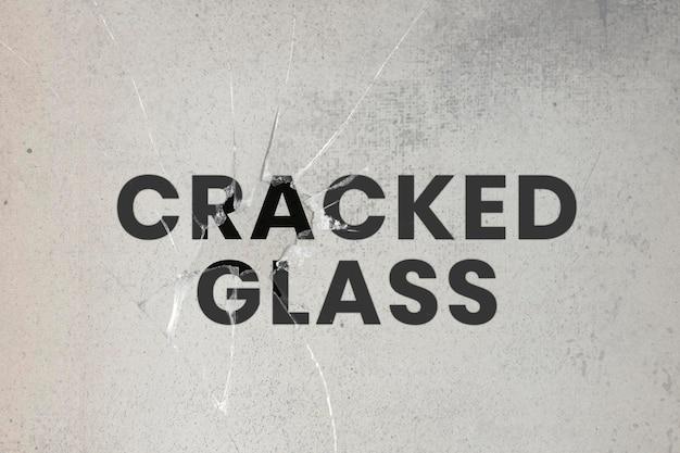 Efecto psd de vidrio agrietado con fondo grunge