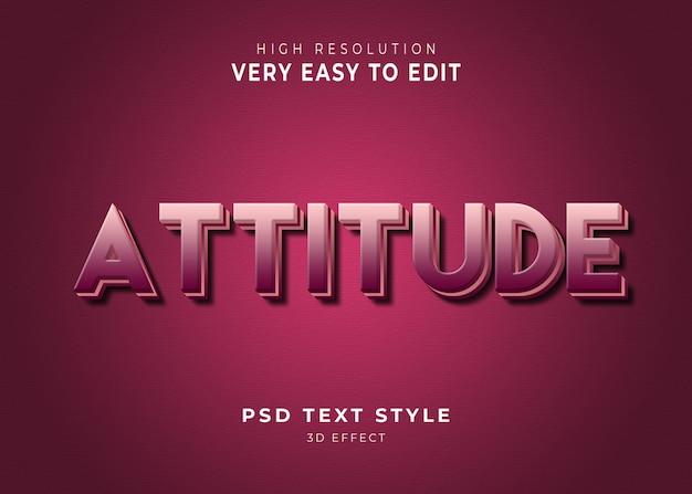 Efecto de texto 3d amazing attitude