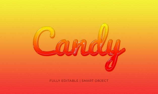 Efecto de texto 3d candy