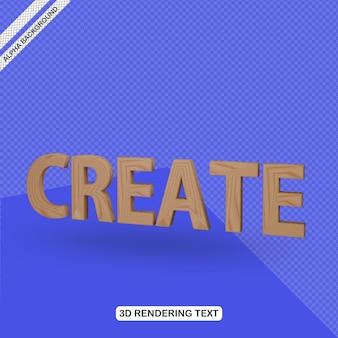 Efecto de texto 3d crear renderizado