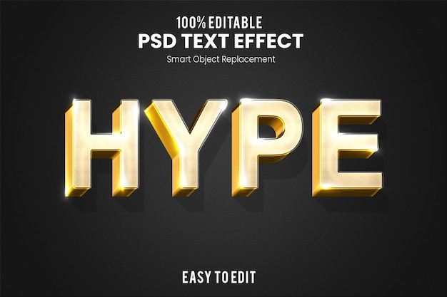 Efecto de texto 3d dorado elegante moderno