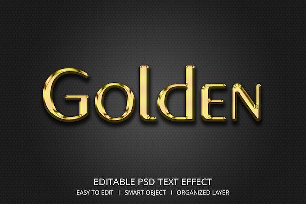 Efecto de texto 3d dorado