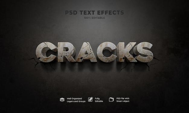 Efecto de texto 3d de grietas